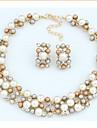 Seturi de bijuterii Vintage Petrecere Petrecere Perle Imitație de Perle Ștras Aliaj Colier Σκουλαρίκια