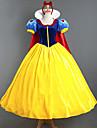 Prințesă DinBasme Costume Cosplay Cosplay de Film Galben Rochie Accesoriu de Păr Manta Mai multe accesorii Halloween An Nou Catifea Satin