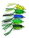"""5 pcs Leurre souple leurres de peche Leurre souple Grenouille Vert Jaune Vert clair Vert sapin Bleu g/Once,55 mm/2-1/4"""" pouce,Plastique"""
