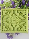 kvadrat blomma formad tvål formar Mooncake mögel fondant tårta choklad silikon mögel, dekoration verktyg bakeware