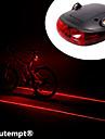 Cykellyktor Baklykta till cykel Laser LED Cykelsport Stöttålig Vattentät Laser Litium Batteri Lumen Batteri Cykling
