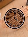 Pentru femei Quartz Ceas de Mână cald Vânzare Piele Bandă Vintage Lemn Modă Maro Khaki