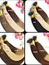 """nano slinga hår ombre två ton dip dye 12 """"-26"""" 1 g / s 100g + 100beads 100% brasilianskt hår nano ringen förlängning"""