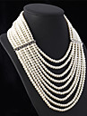Pentru femei Coliere Κολιέ με Πέρλες Perle Bijuterii Perle Elegant bijuterii de lux Multistratificat Bijuterii Pentru Nuntă Petrecere