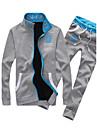 Bărbați activewear Set Plus Size Casul/Zilnic Scrisă Bumbac Manșon Lung