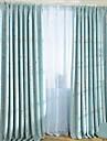 Canal pentru tijă Margine cu inele de trecere Margine găici Pliuri Triple Două Panouri Tratamentul fereastră Modern, Imprimeu Sufragerie