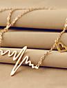 Pentru femei Coliere cu Pandativ - 18K Placat cu Aur, Oțel titan Inimă, Iubire Design Unic, De Bază Argintiu, Roz trandafiriu Coliere Pentru Nuntă, Petrecere, Zilnic