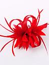 Femei Fata cu Flori Pană In Diadema-Nuntă Ocazie specială Informal Exterior Pălărioare 1 Bucată