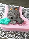 Owl Formad Baka fandant kakform, L5.7cm * W5.8cm * H1.2cm