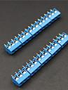 3 pin 5.0mm plintar kontakter - blå (10-bit)