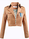 Inspirado por Attack on Titan Eren Jager / levi ackerman Anime Disfraces de cosplay Tops Bottoms Cosplay Un Color Top Para Hombre / Mujer