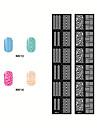 2 - Autocollants 3D pour ongles - Doigt / Orteil - en Bande dessinee / Abstrait / Adorable / Punk / Mariage - 14.5*7CM