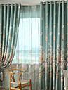 Două Panouri Modern / Neoclasic / Țara Floral / Botanic Bej Dormitor Poliester Panou Perdele Draperii