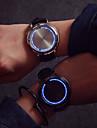Bărbați Ceas de Mână Touch Screen / Creative / LED Piele Bandă Modă / Unic Watch Creative Negru / Un an / SODA AG4