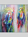 HANDMÅLAD Popkonst Horisontell, Moderna Duk Hang målad oljemålning Hem-dekoration En panel