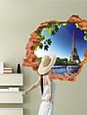 Arhitectură / Modă / Fantezie / #D Perete Postituri 3D Acțibilduri de Perete , Vinyl stickers 87*56cm
