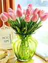 Gren PU Verklig beröring Tulpaner Bordsblomma Konstgjorda blommor 33.5*4.5cm
