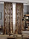 Hyls-topp Dubbel veckad Två paneler Fönster Behandling Moderna Nyklassisistisk Land, Jacquard Sovrum Polyester Material gardiner draperier