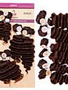 Djupvåg människohår väver brasiliansk konsistens 200 8-10-12 mänskliga hårförlängningar