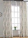 Curtains Drapes Bedroom Linen / Polyester Blend Print & Jacquard