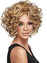 Peruki syntetyczne Curly Styl Bez czepka Peruka Blond Brązowy Blond Włosie synetyczne Damskie Blond / Brązowy Peruka Krótkie Peruka na Halloween