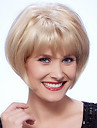 Natural Short Bob Virgin Remy Human Hair Hand Tied Top Female Capless Wigs