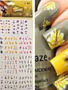 1 pcs 3D наклейки на ногти Стразы для ногтей Наклейка для переноса воды маникюр Маникюр педикюр Панк / Мода Повседневные / ПВХ / Украшения для ногтей / 3D-стикеры для ногтей