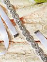 Satin Nuntă Party / Seara Zilnice Cercevea With Piatră Semiprețioasă Cristal Mărgele Pentru femei Panglici