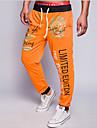 Bărbați Larg Pantaloni Chinos Pantaloni Șic Stradă Imprimeu / Scrisă Casul/Zilnic Talie Medie Cordon Polyester / Bumbac Micro-elastic