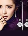 Bărbați Pentru femei Cercei Picătură imitație de diamant La modă Elegant costum de bijuterii Plastic Cristal Diamante Artificiale Minge