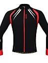 SANTIC Veste de Cyclisme Homme Manches Longues Velo Veste Maillot Hauts/Tops Garder au chaud Pare-vent Design Anatomique Doublure Polaire