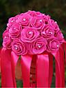 "Flori de Nuntă Rotund Trandafiri Buchete Nuntă Satin Satin Elasticizat 8.66""(Approx.22cm)"