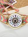 Women\'s Quartz Wrist Watch Casual Watch Fabric Band Bohemian Fashion Multi-Colored