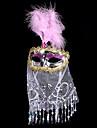 Carnaval Masque Unisexe Halloween Carnaval Fete / Celebration Deguisement d\'Halloween Or Rouge Rose Claire Violet Rouge Rose