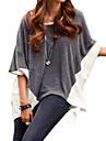 Femei Rotund Femei Tricou ½ Lungime Manșon Poliester / Amestecuri Bumbac