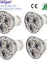 3W GU10 Spoturi LED R63 3 led-uri LED Putere Mare Decorativ Alb Cald Alb Rece 200-250lm 3000/6000K AC 220-240 AC 110 - 130V
