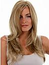 Femme Perruque Synthetique Mi Longue Droite Blonde Perruque Deguisement