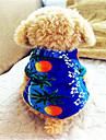 Câine Tricou Îmbrăcăminte Câini Respirabil Nuntă Modă Floral / Botanic Albastru Costume Pentru animale de companie