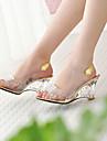 Pentru femei Pantofi Imitație de Piele Primăvară / Vară / Toamnă Heel translucid / Toc Platformă Cristal Argintiu / Auriu / Tocuri de toc