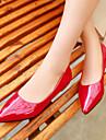 Pantofi pentru femei - Imitație de Piele - Toc Jos - Vârf Ascuțit - Pantofi Fără Toc - Outdoor / Birou & Carieră / Casual -Negru /