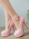 Damă Pantofi Imitație de Piele Primăvară Vară Toamnă Toc Stiletto Platformă Perle Pentru Casual Rochie Negru Bej Roz