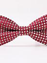 masculin de partid / seara nunta formale roșu twill ochiurilor de plasă poliester bow