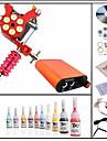 Startpaket tatuering 1 x legerings tatueringsmaskin för linjering och skuggning Tattoo Machine Mini strömförsörjning 10 × 5ml