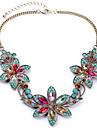 Pentru femei Coliere cu Pandativ Flower Shape Ștras Aliaj Plin de Culoare European Festival/Sărbătoare costum de bijuterii Bijuterii