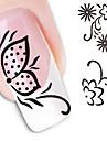 Blomma / Abstrakt - Finger - 3D Nagelstickers - av Andra - 1 - styck 10.5X7X0.1 - cm