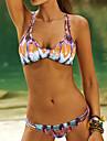 Femei Bikini Femei Cu Susținere Floral / Boho Fără Întăritură / Sutiene cu Bureți Polyester / Spandex