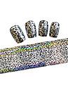 1pcs Folie Stripping Tape Nail Stamping Template Daglig Tegneserie Mode Smuk Høj kvalitet