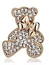 Pentru femei Modă Ștras Argilă Placat Auriu Bowknot Shape Urs Animal Auriu Argintiu Bijuterii Pentru Nuntă Petrecere Casual