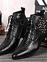 Bărbați Pantofi Piele Primăvară Toamnă Iarnă Confortabili Cizme Cizme/Cizme la Gleznă Ținte Fermoar Dantelă Pentru Nuntă Party & Seară