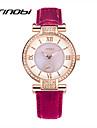 SINOBI Pentru femei Ceas de Mână Quartz Piele Violet 30 m Rezistent la Apă Analog femei Charm Modă - Mov Verde Doi ani Durată de Viaţă Baterie / Sony SR626SW